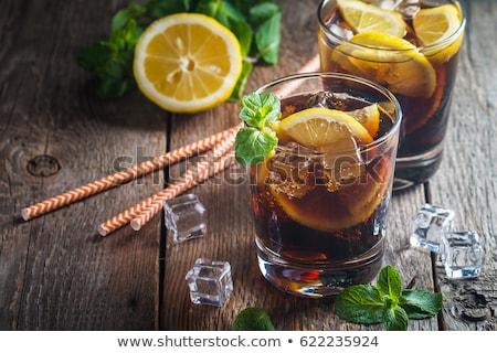 Stockfoto: Cuba · cocktail · mint · kalk · ijs · glas