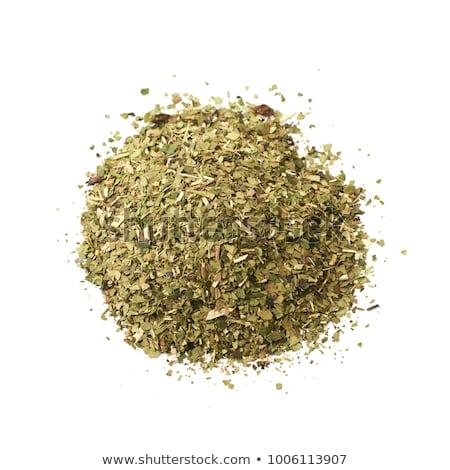 Compagnon thé traditionnel amérique du sud servi feuille Photo stock © grafvision