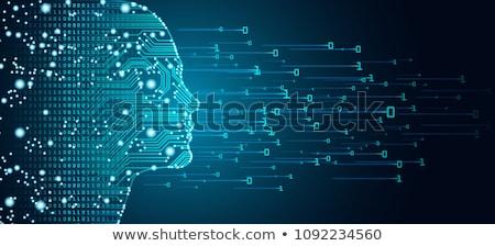 Digitális vektor gép tanul mély mesterséges intelligencia Stock fotó © frimufilms