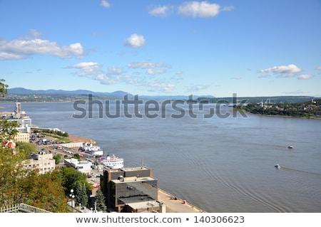 Balsa barco rio Quebec cidade blue sky Foto stock © Lopolo
