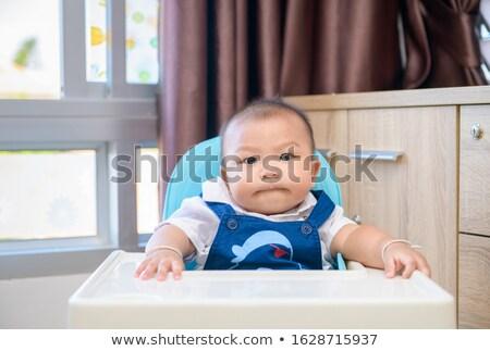 Baby hoog stoel kid wachten favoriet Stockfoto © Lopolo