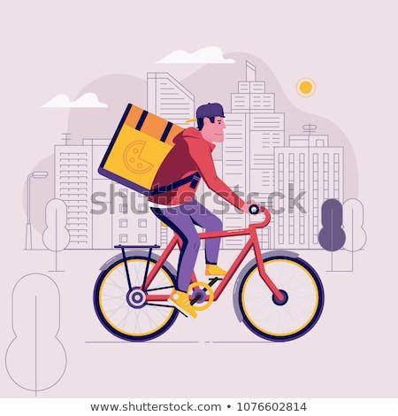 bicikli · zöld · város · vektor · környezet · ökológia - stock fotó © studiostoks