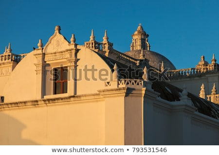La igreja Nicarágua cidade azul viajar Foto stock © benkrut