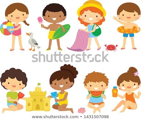 Kinder Strand Set Sammlung cute Stock foto © ayelet_keshet