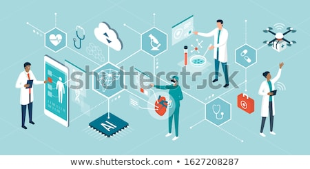 Artificial virtual reality data analysis Stock photo © frimufilms