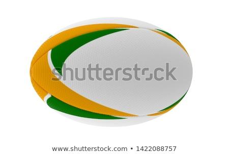 Rugby Ball Green Design Stock photo © albund