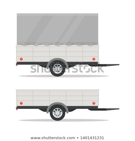 Car trailer vector illustration Stock photo © YuriSchmidt