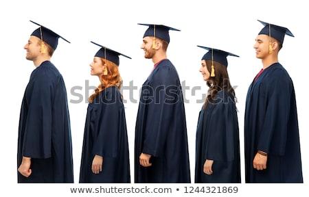 Diplomások agglegény oktatás érettségi emberek csoport Stock fotó © dolgachov
