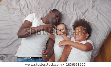 Feliz padre bebé hijo casa familia Foto stock © dolgachov