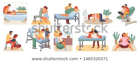 ciąży · mąż · ilustracja · kobieta · rodziny · człowiek - zdjęcia stock © robuart