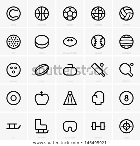 Football and Golf, Cricket and Rugby Icons Vector Stock photo © robuart