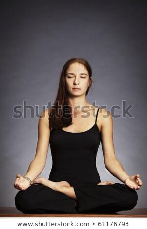 Lady in lotus posture (Padmasana) Stock photo © lichtmeister