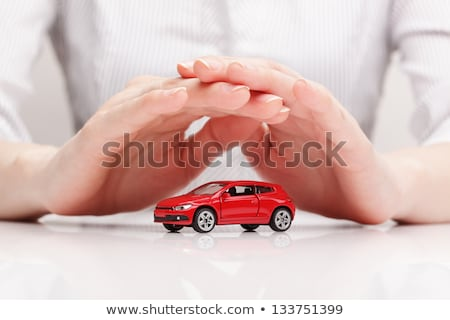 insurance and care protection of car concept woman with protect stock photo © freedomz