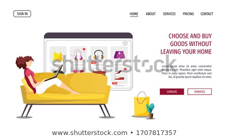 Clothes and Footwear, Woman Shopping, Buy Vector Stock photo © robuart