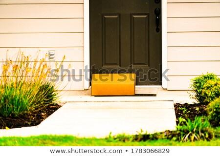 üres veranda ajtók modern otthon napos idő Stock fotó © wavebreak_media