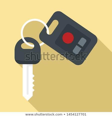 Ontsteking sleutel icon vector geïsoleerd witte Stockfoto © smoki