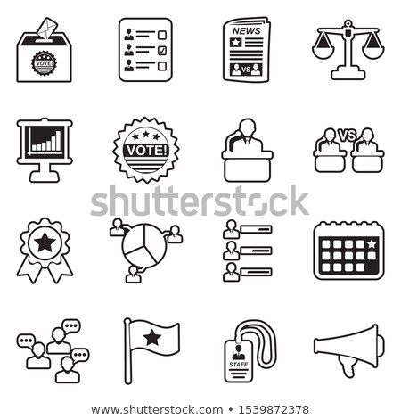 Voting And Election Collection Icons Set Vector Stock photo © pikepicture