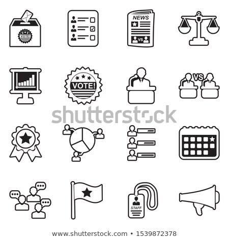 verkiezing · ontwerp · communie · 12 · politiek - stockfoto © pikepicture