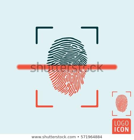 Impronte digitali cellulare stile illustrazione smartphone Foto d'archivio © shai_halud