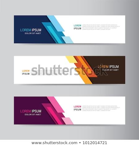 Modernes web bannière diagonal lignes présentation Photo stock © SArts