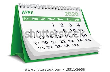 2020 year. Calendar for April. Isolated 3D illustration Stock photo © ISerg