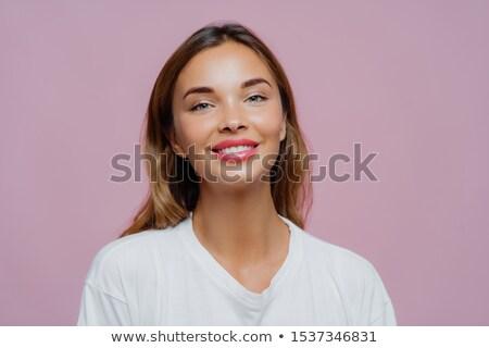 Tiro feminino menina smiles câmera Foto stock © vkstudio