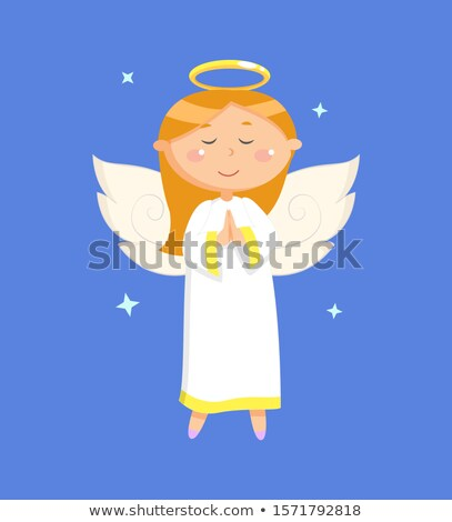 Portrait View of Praying Angel in Dress Vector Stock photo © robuart