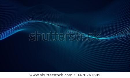 Kék digitális technológia izzó részecskék terv háttér Stock fotó © SArts