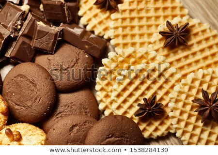 çikolata yulaf kurabiye kâğıt görüntü Stok fotoğraf © dariazu
