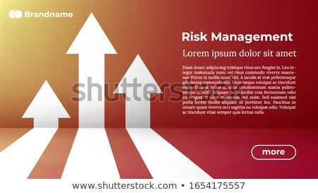 Risk Managemant - Web Template In Trendy Colors Foto stock © Tashatuvango