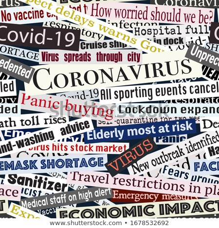 Coronavirus headlines seamless tile Stock photo © Tawng