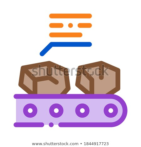 coal in stock icon vector outline illustration Stock photo © pikepicture