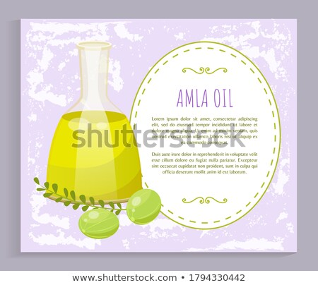 Information About Amla Oil in Vessel, Gooseberries Stock photo © robuart