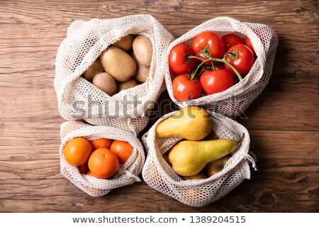Algodón neto bolsa alimentos frescos hortalizas Foto stock © AndreyPopov