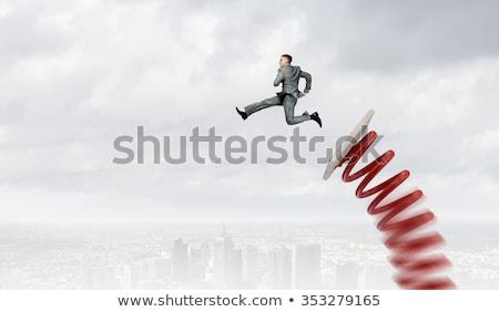 Empresário promoção negócio acelerar sucesso gerente Foto stock © Elnur