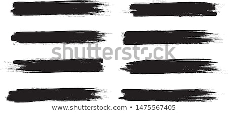 abstract set of dirty grunge paint strokes Stock photo © SArts