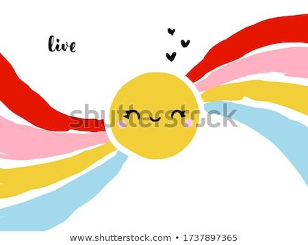 Creativo kawaii splendente sole Rainbow divertente Foto d'archivio © ussr