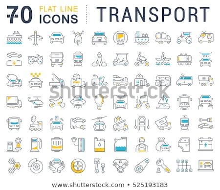 Auto tuning web icons gebruiker interface Stockfoto © ayaxmr