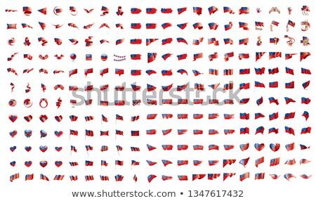 Grande coleção vetor bandeiras Samoa fundo Foto stock © butenkow