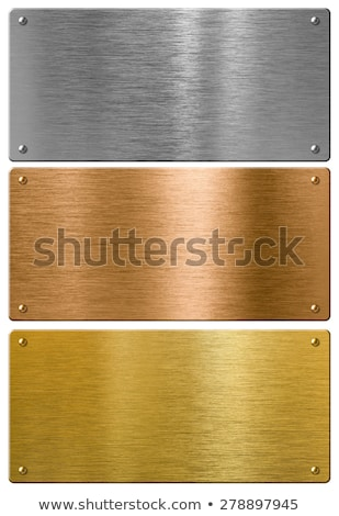 Bright glossy round polished bronze metal Stock photo © evgeny89