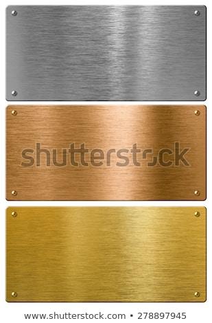 Bright glossy round polished bronze metal Stock photo © evgeny89