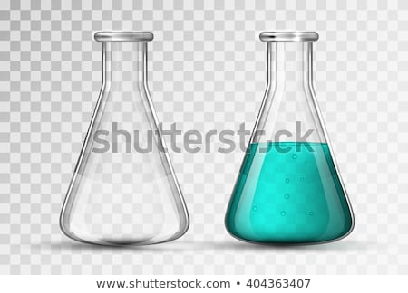 Simple transparent flask for chemicals experiments on transparent Stock photo © evgeny89