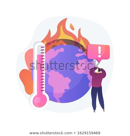 земле температура рост Глобальное потепление вектора Сток-фото © RAStudio