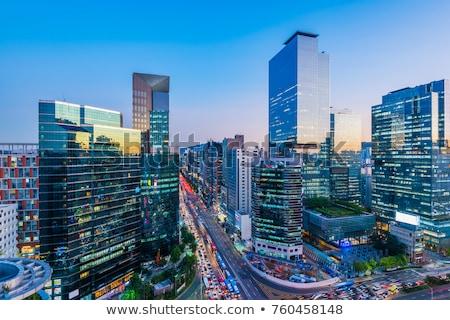 Seoul skyline in the night, South Korea. Stock photo © dmitry_rukhlenko