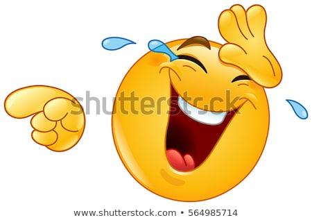 Reißen Emoticon traurig Design Zeichen Ball Stock foto © yayayoyo
