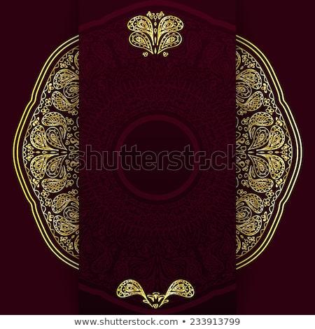 Mandala decorativo reale design sfondo Foto d'archivio © SArts
