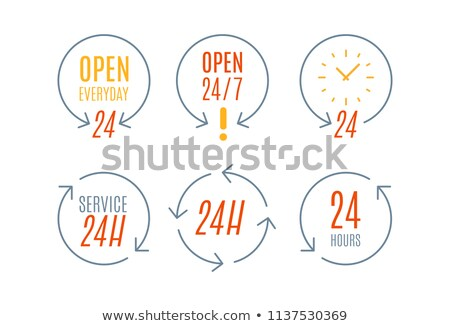 24 saat hizmet her gün saat dizayn Stok fotoğraf © SArts