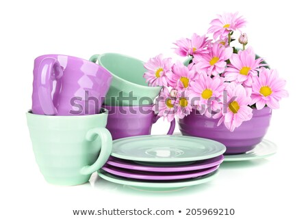 Isolated colorful pottery dish Stock photo © Ansonstock