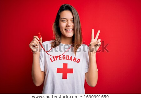 lifeguard sign 2 Stock photo © morrbyte