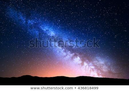 Leitoso maneira estrelas verão noite tiro Foto stock © lunamarina